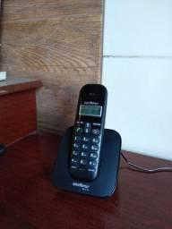 Título do anúncio: Telefone Sem Fio Digital Intelbras Com Identificador de Chamadas Preto - TS 3110