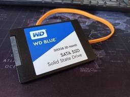 SSD Sata 500Gb com cabo