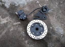 Sistema freio a disco traseiro para Titan/Fan 150.
