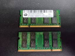 Memoria 2gb Ddr2 666 Mhz Pc2-6400 Hbs Notebook