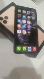 iPhone 11 Pro Max Gold lindo aceito cartão aceito iPhone