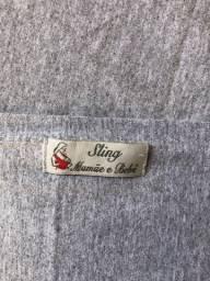 Wrap sling 100% algodão cinza mescla