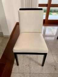 Conjunto De 6 Cadeiras Sierra Cor Imbuia/ Capuccino