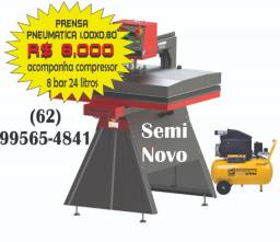 Prensa Termica Pneumatica 1,00 x 0,80