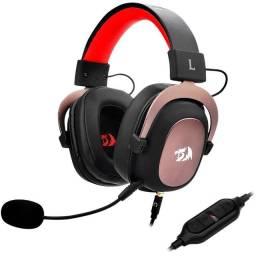 Headset Gamer Redragon Zeus H510, 7.1 Som Surround Preto/Vermelho