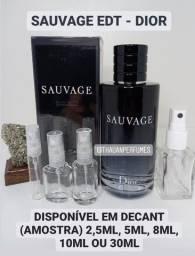 Decant (amostra) Perfume Importado Sauvage EDT - Dior - Original - 2.5ML até 30ML