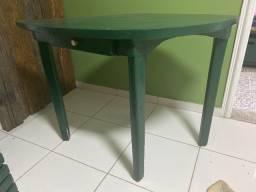 Mesa madeira formato folha