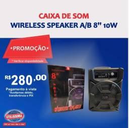 Caixa de som Wireless Speaker 8'' 10w ? Entrega grátis