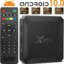 Tv Box Android X96Q 4K 16 GB Entrega e Instalação Grátis