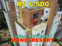 Mundi Resort 180m² com 03 Suítes