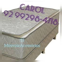 Cama box casal Confort plus molas pocket pelmex