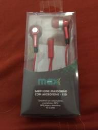 Fone de Ouvido Earphone Max Sound - Maxprint