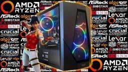 PC Gamer<>Ryzen 5 1600 AF + RX 550 4GB<>Novo c/ Garantia!
