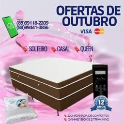 Título do anúncio: COLCHÃO MAGNÉTICO, MELHOR VALOR EM FORTALEZA, GANHE BOX E TRAVESSEIROS