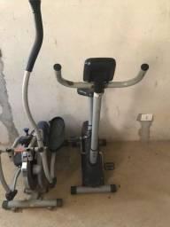 Elíptico Orbitrek Polishop e Bicicleta Ergométrica