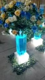 Colunas borbulhante para mesas de festas ou corredor de noivos
