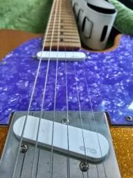 Guitarra Telecaster Com Captadores Emg Com Case E Acessórios