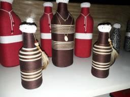 Vendo garrafa artesanal todas às cores 5o reais o jogo de 3