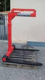 Garfos ou Porta Pallet p/ Caminhão com Munck Guindaste 1500kg(vermelho)