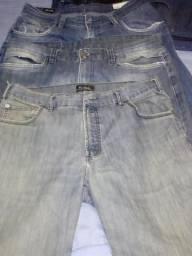 Jeans 8 calças tamanho 44 46 48 todas por R$ 20