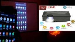 Projetor de Led UC68 1200 Lumens<br><br>Projetor UC68+