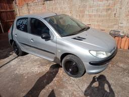 Peugeot 206 1.6 16V Completo prata 2003