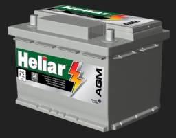Bateria Para Carro Heliar Tenologia AGM de 60 AH - R$1.210,00 Bateria para Creta 1.6