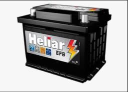 Bateria Para Carro Heliar Tenologia EFB de 60 AH com 2 Anos de Garantia - R$570,00