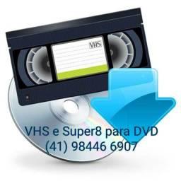 Conversão de vhs para dvd ou mp4 em curitiba