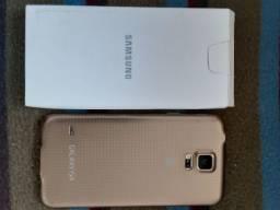 Samsung semi novo Galaxy S5 dourado