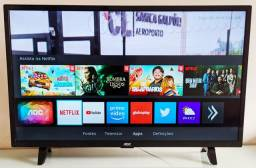 Smart tv Aoc 43 Telão Netflix YouTube wifi