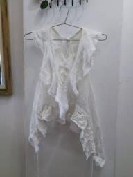 Croped branco Zara