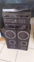 Rádio toca discos Philips antigo
