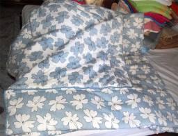 Título do anúncio: Edredon casal, cobre colchão com PVC  e manta para sofá