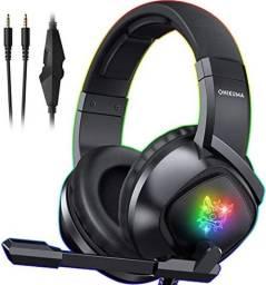 Headset Fone Gamer K19 Preto RGB Onikuma Profissional