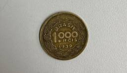 Título do anúncio: moeda antiga 1000 reis 1939 Tobias Barreto
