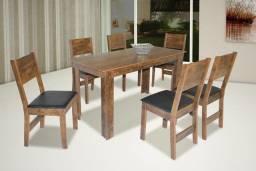 Conjunto Mesa de Jantar Milena 06 Cadeiras - Entrega Imediata;