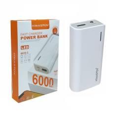 Carregador Portátil  Power Bank 6000 Mah