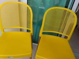 Título do anúncio: Cadeiras Vintage Alumínio e Plástico