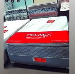 Título do anúncio: cama casal molas ensacadas *-*-*-*-*-/ frete grátis