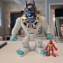 Título do anúncio: Rei Múmia Mattel - Imaginext - Fischer Peixe 25cm
