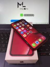 Iphone xr 64gb red completo bem conservado