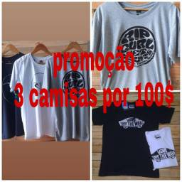 Promoção 3 camisas por 100,00$