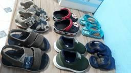 Sandálias e sapato infantil menino