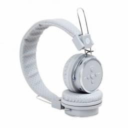 fone sem fio bluetooth headphone branco