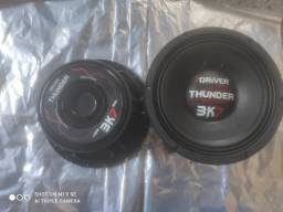 Par de alto falante driver thunder 3k7 12p
