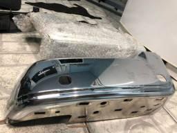 Pára-choque traseiro cromado Ford Ranger XLT 2019 esquerdo / direito e suporte plataforma