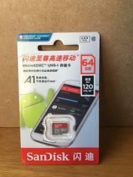 Cartão de memória SD 64GB SanDisk