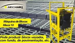 Maquina Manual para fabricação de blocos de concreto Meca 10