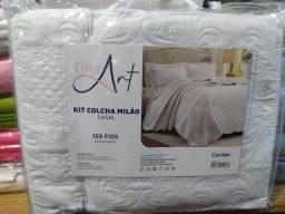 Kit colcha toque macio com porta travesseiro